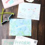 Adorable Free Summer Printable Postcards