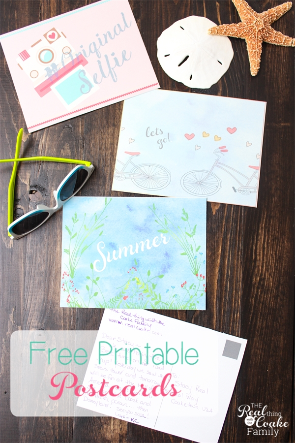 picture relating to Printable Postcards Free named Absolutely free Summer months Printable Postcards