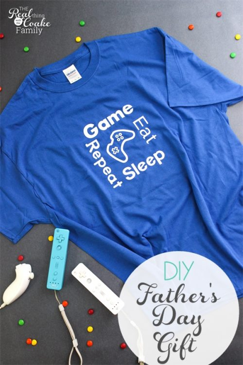 Personalized gifts make the best gift ideas! This is such a cute DIY Father's Day Gift Idea made with Cricut Iron on. It would be easy to personalize this for our Father's Day gifts.