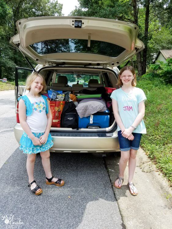Great tips and hacks for our road trip. Shows ideas, organizing the whole car, packing for kids and the whole family. Including essentials we need for our long cross-country trip and snacks.