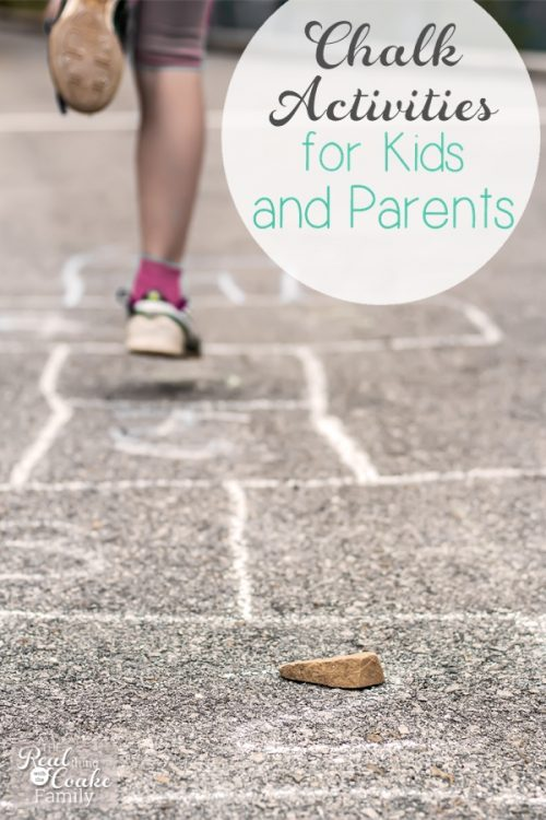 Looks like some fun ideas with chalk for the kids and me, too. Love finding fun activities for the kids that I like as well. #5 is my favorite.