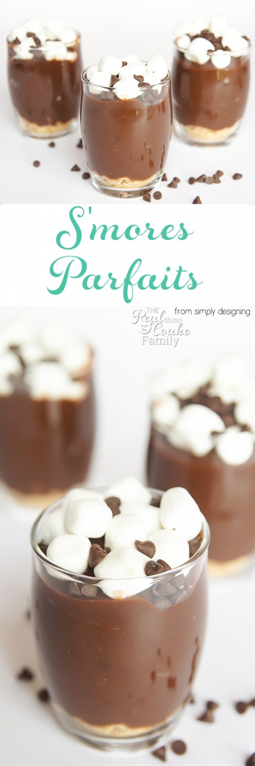 Oh my goodness! We need to make this S'mores Parfait recipe. So yummy and so easy, too. Love no bake desserts like this that the kids can make.