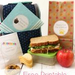 School Lunch Ideas ~ Free Printable Lunch Box Notes