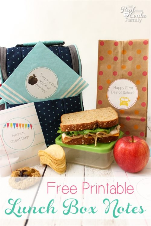 These are cute School Lunch Ideas. Free printable to add cute notes to our school lunches. I can DIY them and foil them as well. So cute!