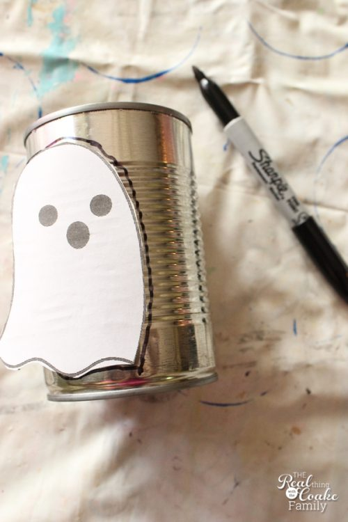 I love making Halloween Crafts with my kids. These ghosts are a cute upcycle that will make great Halloween decorations.