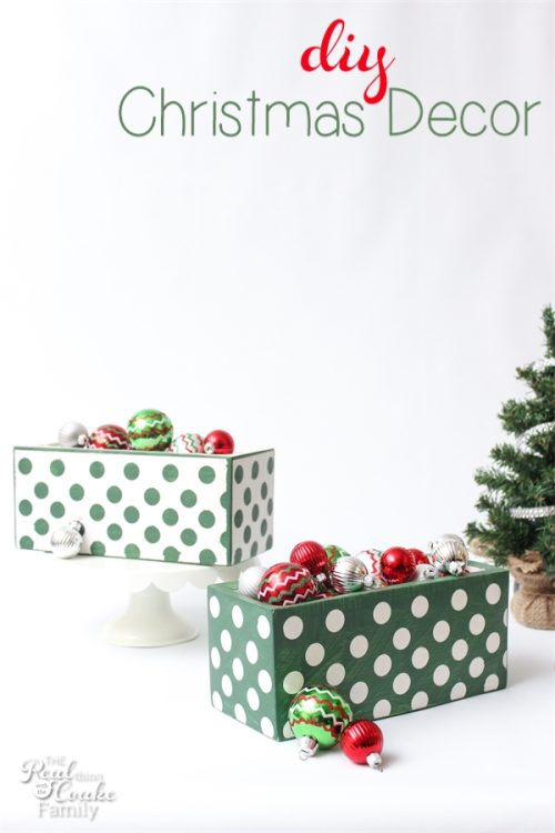 I love these adorable Concrete planters turned into DIY Christmas decorations. Cuteness!
