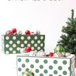 Adorable DIY Christmas Home Decor from Concrete Planters