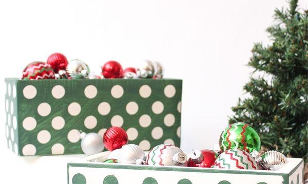 Adorable DIY Christmas Home Decor from Concrete Planters