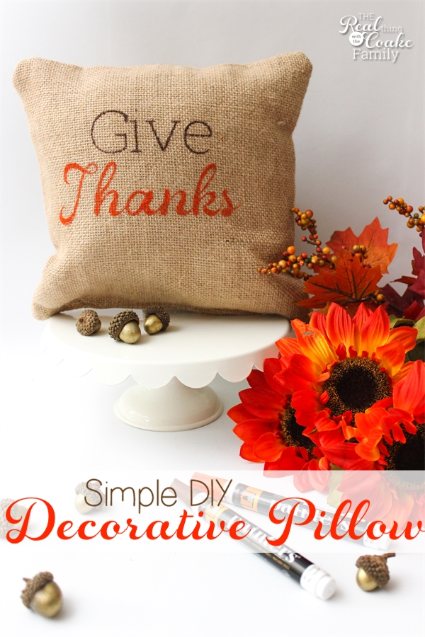 Super Simple Diy Decorative Pillow For Thanksgiving
