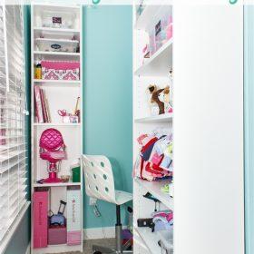Turning an Awkward Corner into Stylish Storage and Useful Space