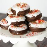 Peppermint Chocolate Baked Donuts
