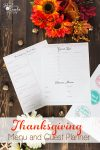 These Thanksgiving Menu and guest planner free printables are so cute and will help me organize our Thanksgiving this year.