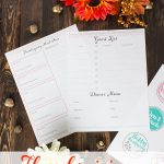 Printable Thanksgiving Menu and Guest Planner