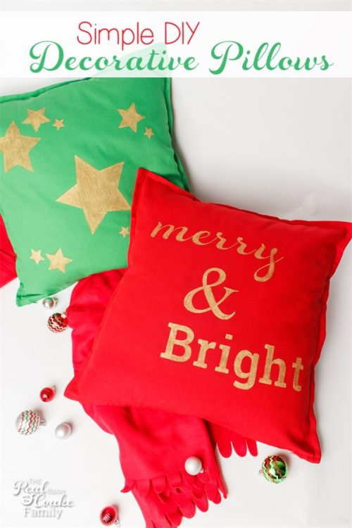 i love simple christmas crafts these decorative pillows are so quick easy and inexpensive - Christmas Decorative Pillows