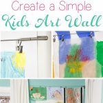 Cheap Home Decor to Make a Kids Art Wall