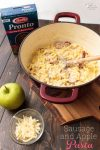 OMG! I love easy dinner recipes like this one-pot sausage and apple Pasta recipe. Yum!