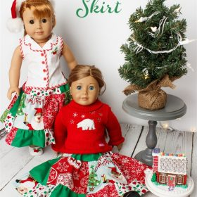 Cute Christmas Twirl American Girl Doll Clothes