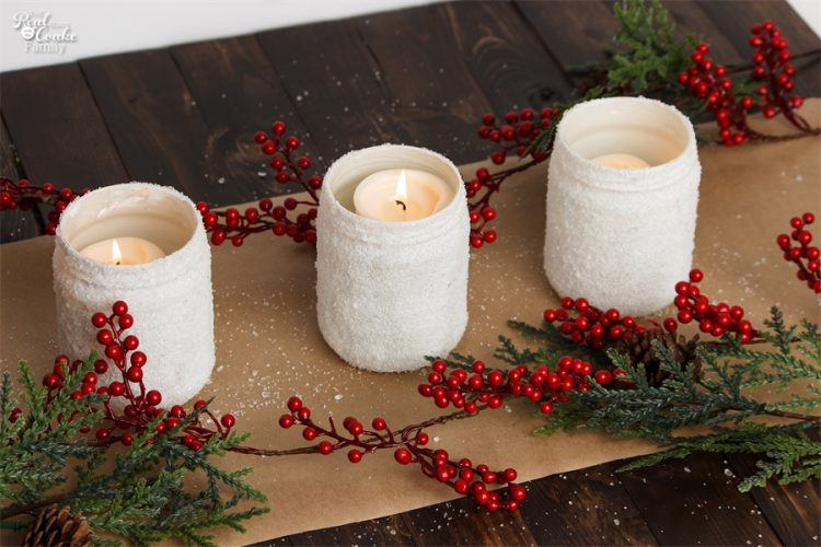 Love easy Crafts that are also gorgeous! I need to make these DIY Epsom salt candle holders for my winter or Christmas home decor.