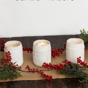 Easy and Beautiful Epsom Salt Candle Holders