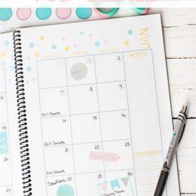 Real Organized Calendar…and a Printable Calendar