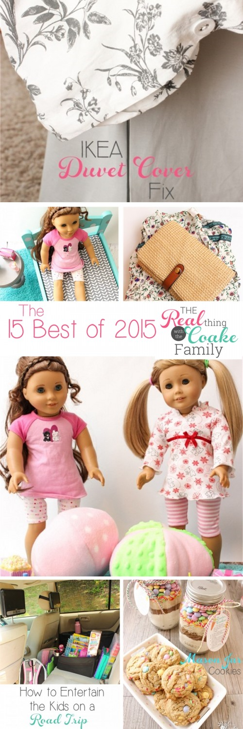 Love all these great posts! All the best post from the blog The Real Thing with the Coake Family in 2015. It includes recipes, organization ideas, crafts, sewing, gift ideas and some fashion. Love!