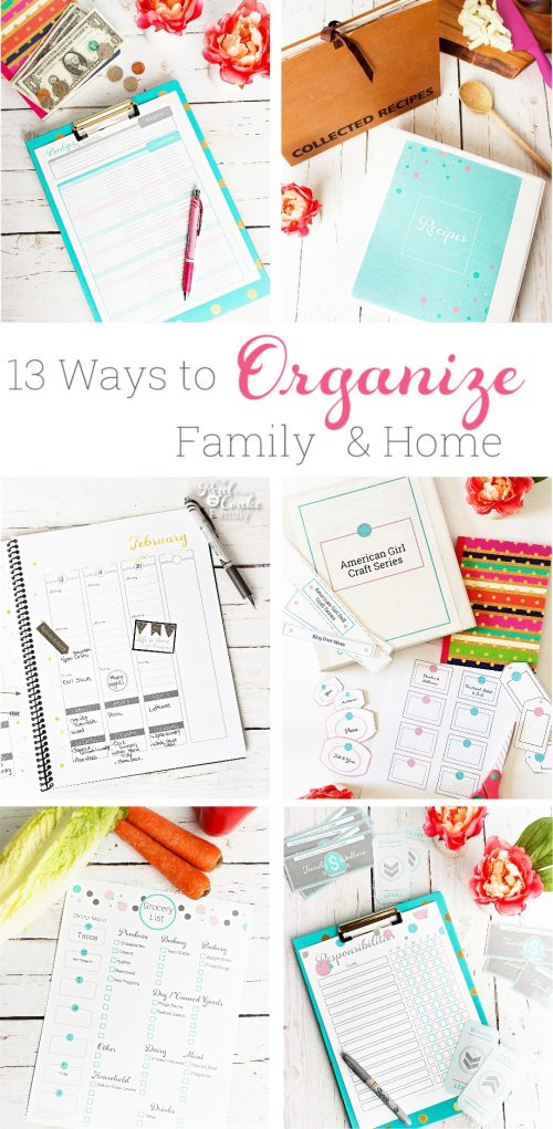 These are great ideas to help me organize my home and my family. They are little organizing projects that I can do one each week. Perfect!