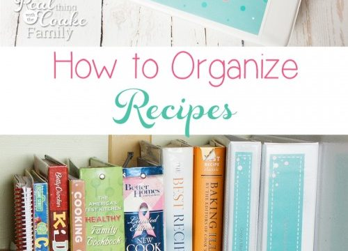 Getting (and Keeping) Recipes Real Organized
