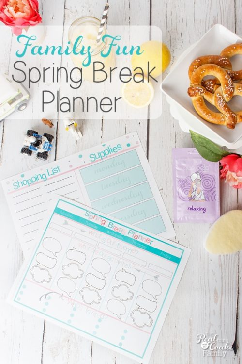 LOVE this idea! How to have a fun Spring Break that the whole family will enjoy. Has a cute printable to plan everything out, too.