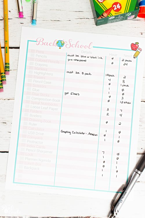 Such a great way for organizing the Back to School supplies shopping! Free printable list so I get the essentials and learn and ways to save time, money and my sanity.