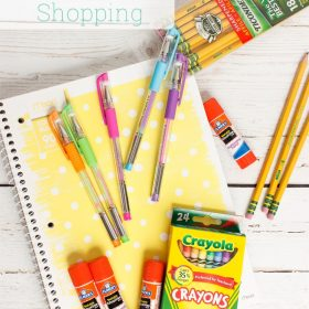 Real Organized Back to School Shopping