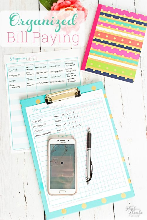 printable for organizing bill paying