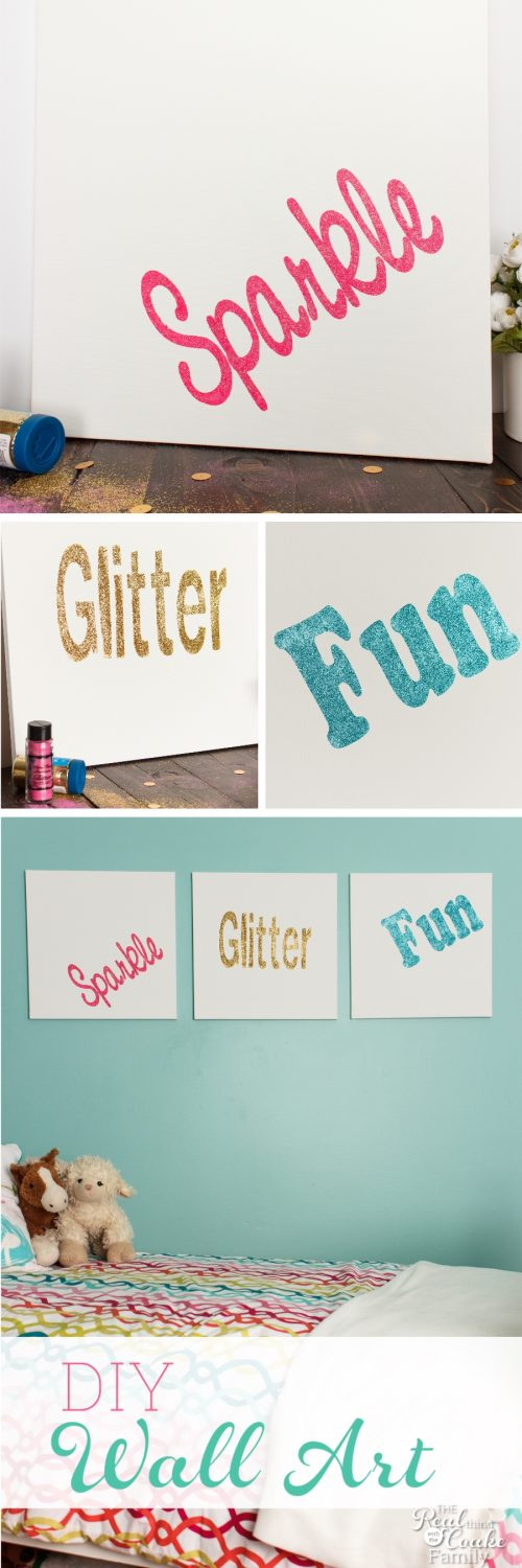 This Is DIY Room Decor Is So Cute! It Looks Like Easy Wall Art That