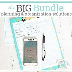 This is one awesome printable bundle to keep me organized. It has organization ideas for the home, family, kids, recipes and so much more. Loving it! So helpful!