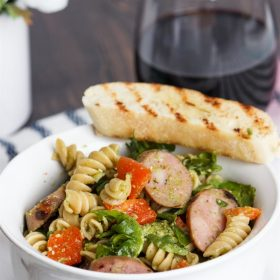 Oh yum! Love quick and easy cold Pasta salad recipes. They are perfect for a healthy summer dinner. Grilling the components of this one will keep my kitchen cool.