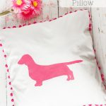 Adorable Dachshund Decorative Pillow
