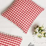 Gingham and Pom Pom Decorative Pillows