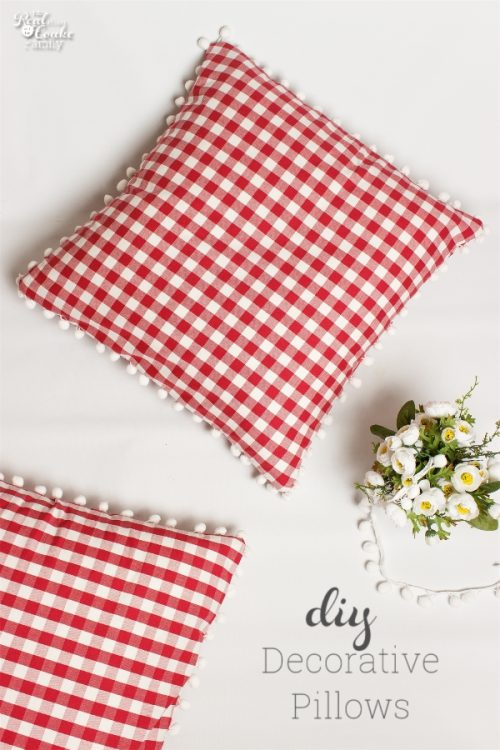 Decorative pillows are so fun! This one is some simple sewing to make an adorable pillow, perfect for my home decor ideas for my bedroom. These are an easy DIY.