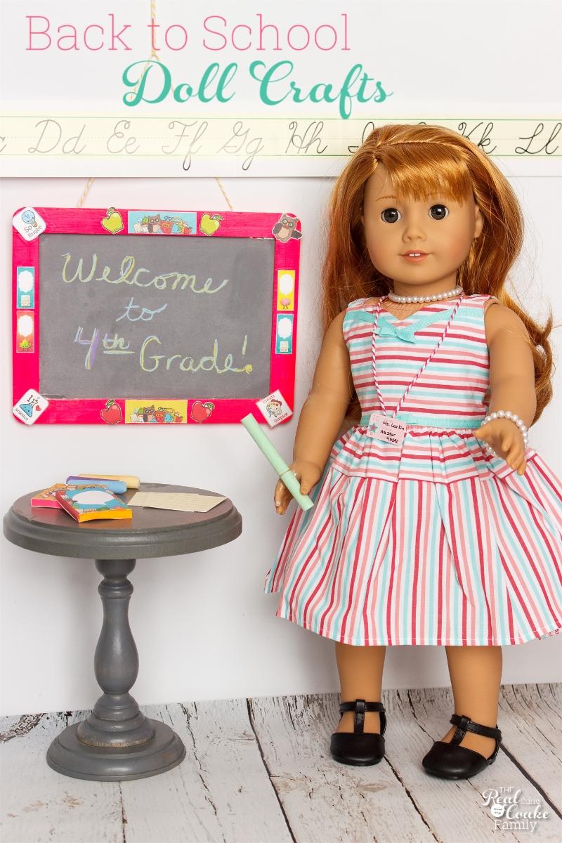 Cute Diy Back To School American Girl Doll Crafts