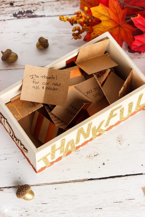 Such a cheap and cute DIY Thanksgiving decorations. I love easy crafts and ideas for decorating my home, especially with this element of gratitude.