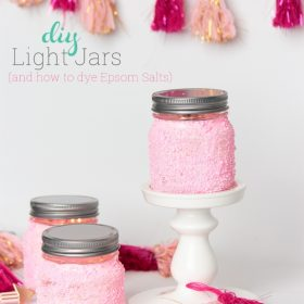 How to Dye Epsom Salts and DIY Light Jars