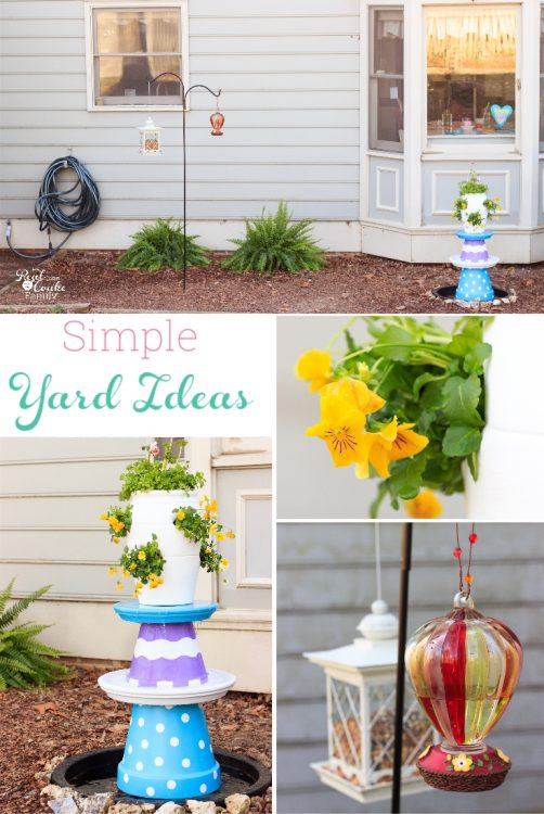 These are great DIY backyard ideas. Love yard ideas that are simple, easy and cheap and that I can't kill off. These are perfect.