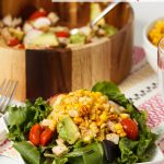 Spicy Roasted Corn, Chicken and Avocado Salad Recipe