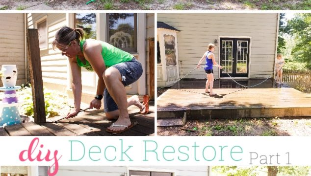Our Summer Project ~ DIY Deck Restore – Part 1