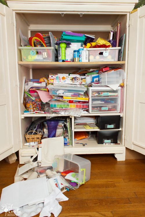 Craft Closet Organization Ideas Part - 41: Great Small Space Craft Organization And Storage Ideas. DIY Ideas For Using  A Cabinet To