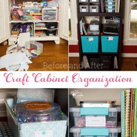 Craft Cabinet Organization Ideas