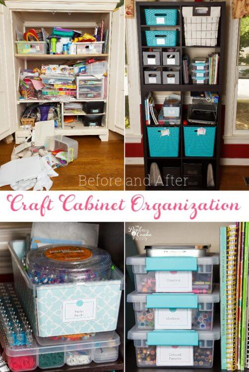 Great Small Space Craft Organization And Storage Ideas. DIY Ideas For Using  A Cabinet To