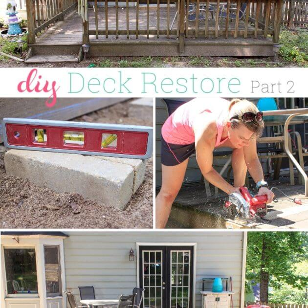 Our Summer Project ~ DIY Deck Restore – Part 2