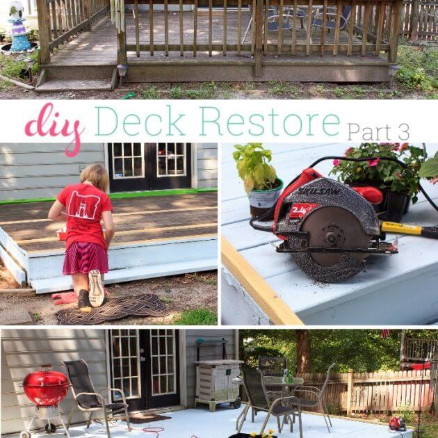 Our Summer Project ~ DIY Deck Restore – Part 3