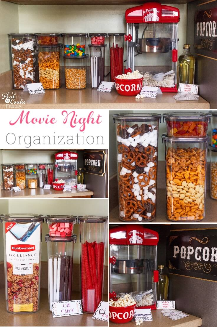 Pretty And Functional Movie Night Organization Ideas