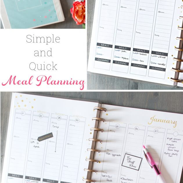 How to Meal Plan ~  A Simple and Quick Guide for Busy Moms